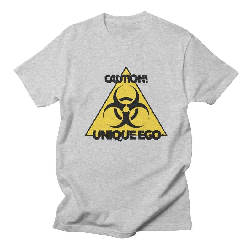 Caution! Unique Ego - The Biohazard Edition Men's Regular T-Shirt by uniquego's Artist Shop