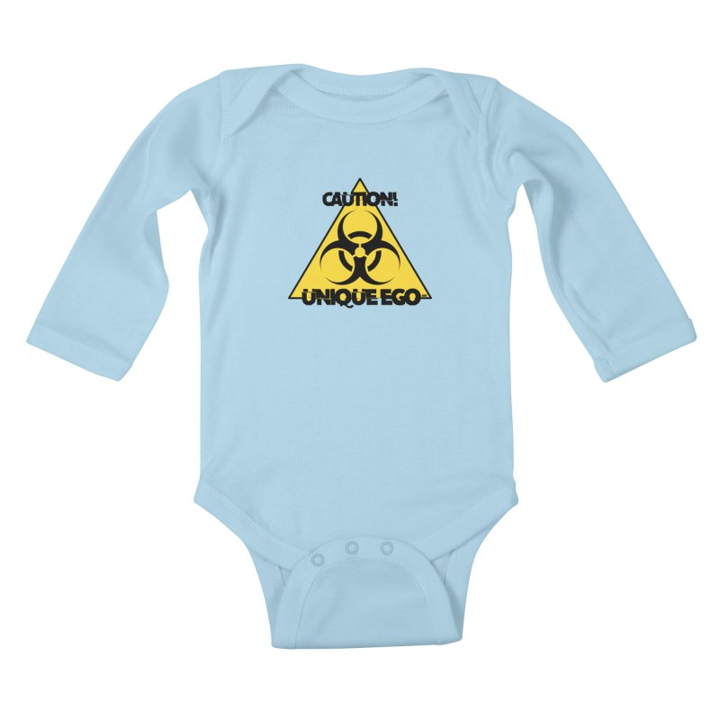 Caution! Unique Ego - The Biohazard Edition Kids Baby Longsleeve Bodysuit by uniquego's Artist Shop