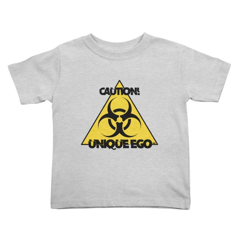 Caution! Unique Ego - The Biohazard Edition Kids Toddler T-Shirt by uniquego's Artist Shop