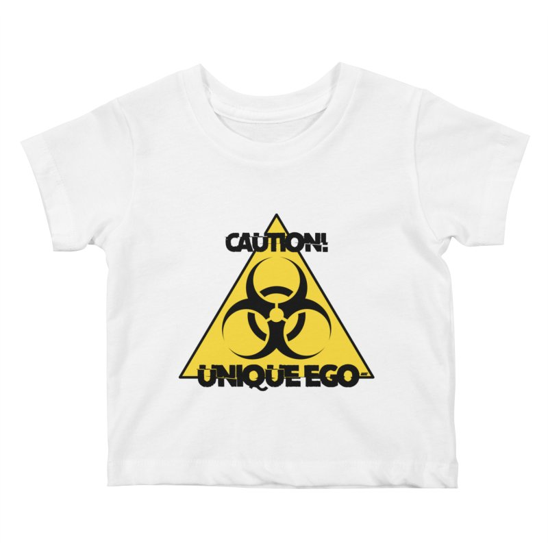Caution! Unique Ego - The Biohazard Edition Kids Baby T-Shirt by uniquego's Artist Shop
