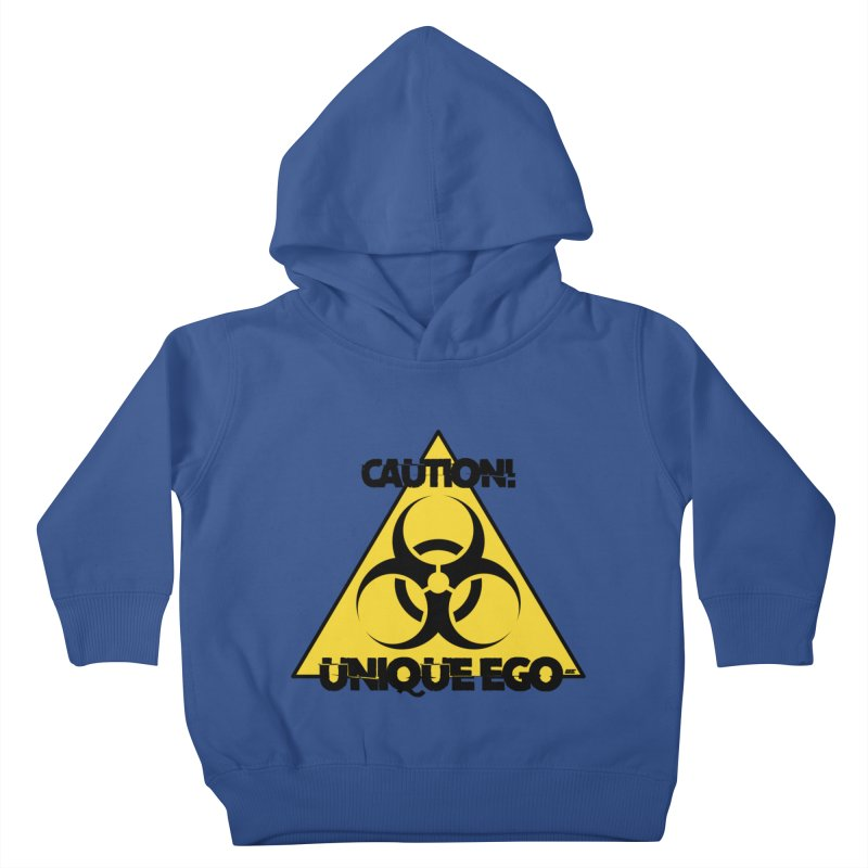 Caution! Unique Ego - The Biohazard Edition Kids Toddler Pullover Hoody by uniquego's Artist Shop