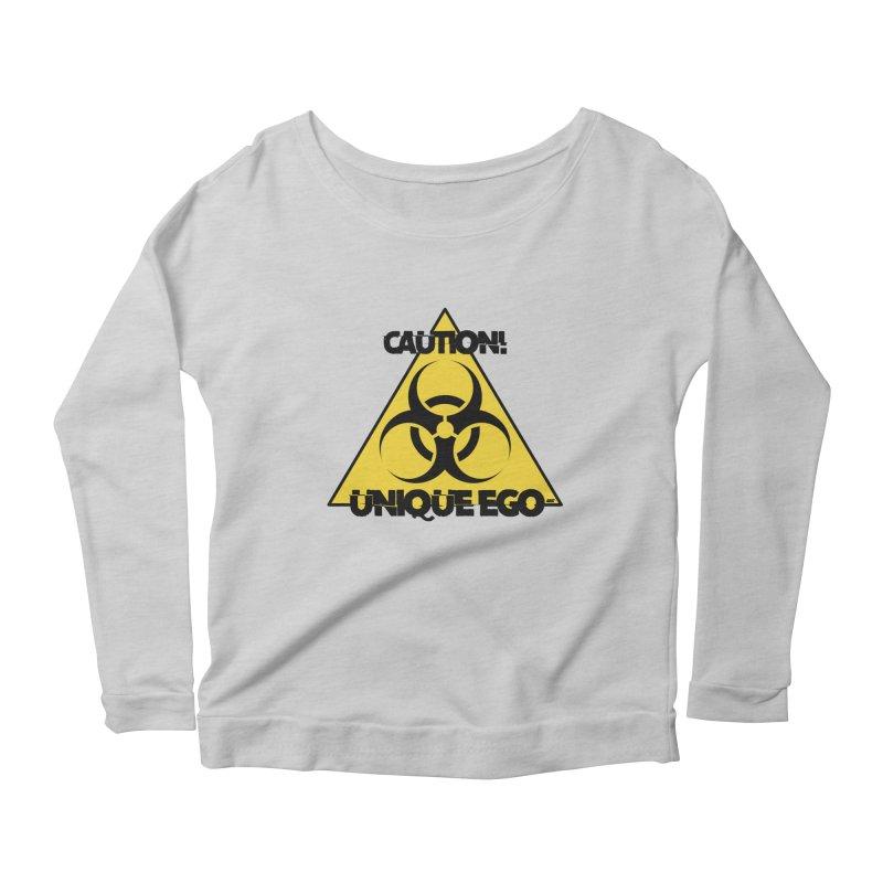 Caution! Unique Ego - The Biohazard Edition Women's Scoop Neck Longsleeve T-Shirt by uniquego's Artist Shop