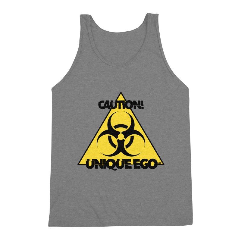 Caution! Unique Ego - The Biohazard Edition Men's Triblend Tank by uniquego's Artist Shop