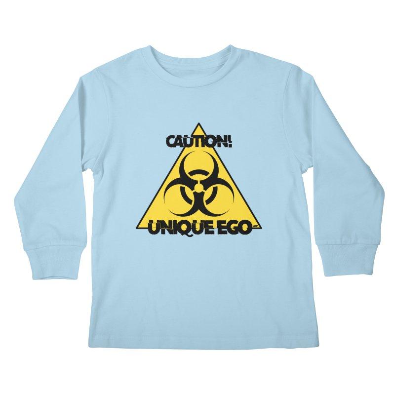 Caution! Unique Ego - The Biohazard Edition Kids Longsleeve T-Shirt by uniquego's Artist Shop