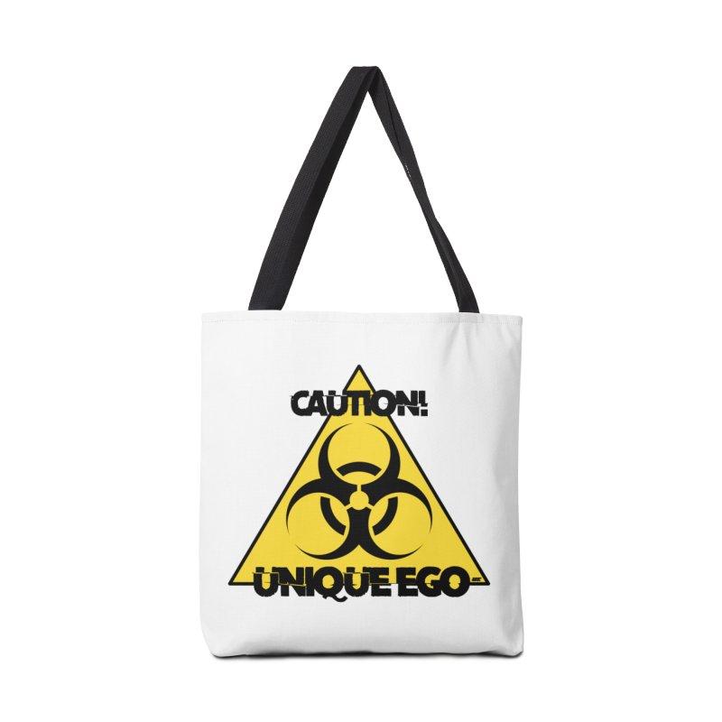 Caution! Unique Ego - The Biohazard Edition Accessories Tote Bag Bag by uniquego's Artist Shop