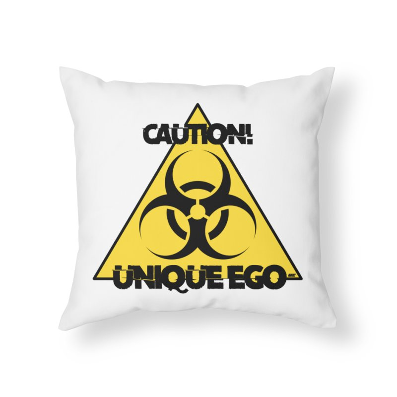 Caution! Unique Ego - The Biohazard Edition Home Throw Pillow by uniquego's Artist Shop