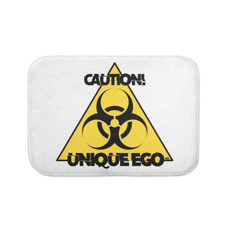 Caution! Unique Ego - The Biohazard Edition Home Bath Mat by uniquego's Artist Shop