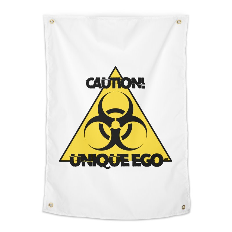 Caution! Unique Ego - The Biohazard Edition Home Tapestry by uniquego's Artist Shop