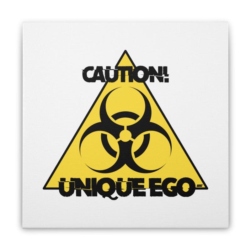 Caution! Unique Ego - The Biohazard Edition Home Stretched Canvas by uniquego's Artist Shop