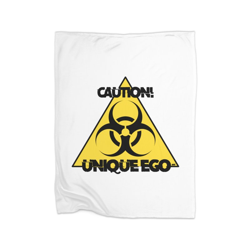 Caution! Unique Ego - The Biohazard Edition Home Fleece Blanket Blanket by uniquego's Artist Shop