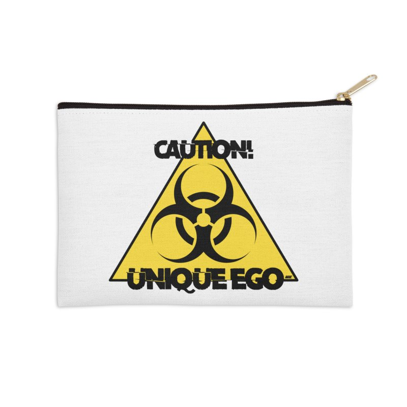Caution! Unique Ego - The Biohazard Edition Accessories Zip Pouch by uniquego's Artist Shop