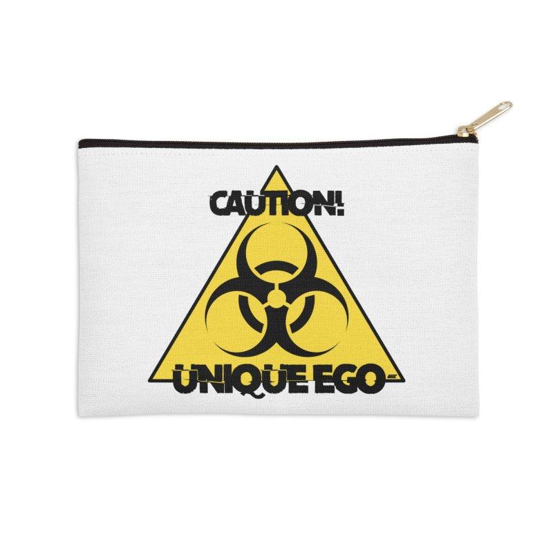 Caution! Unique Ego - The Biohazard Edition Accessories Zip Pouch by uniquego's Artist Shop