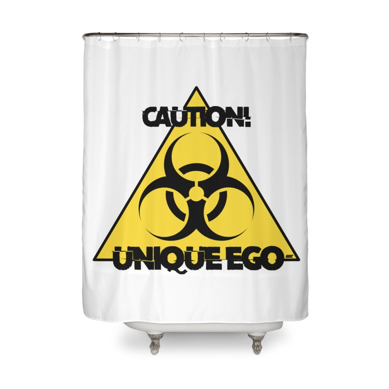 Caution! Unique Ego - The Biohazard Edition Home Shower Curtain by uniquego's Artist Shop