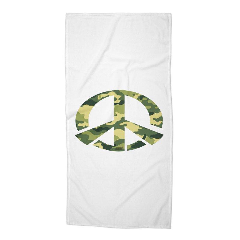 Peace - Camo Edition Accessories Beach Towel by uniquego's Artist Shop