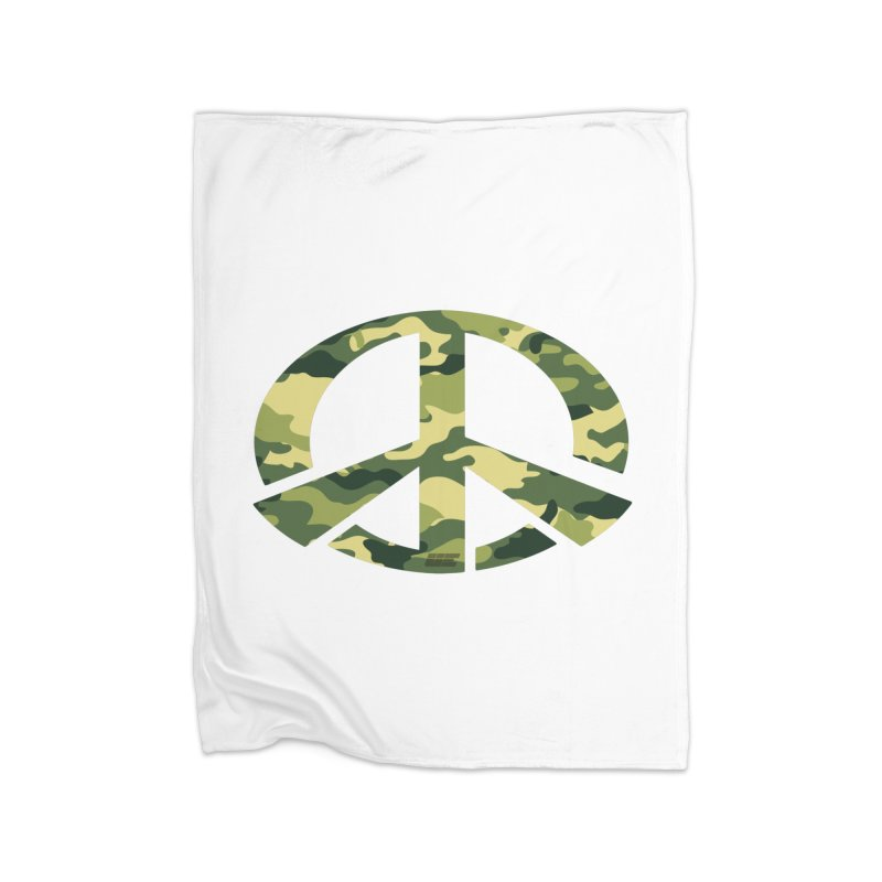 Peace - Camo Edition Home Fleece Blanket Blanket by uniquego's Artist Shop