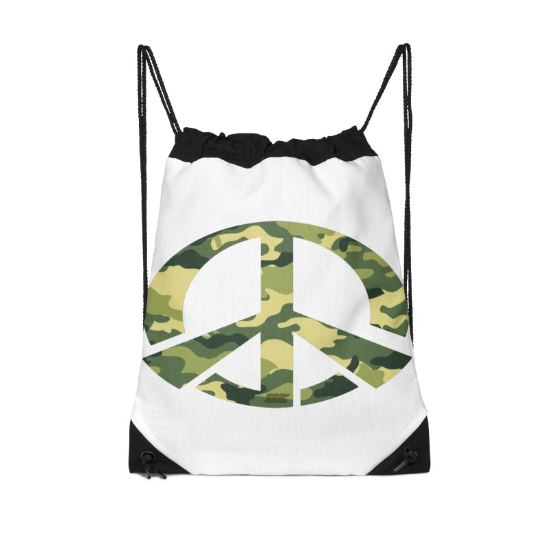Peace - Camo Edition Accessories Drawstring Bag Bag by uniquego's Artist Shop