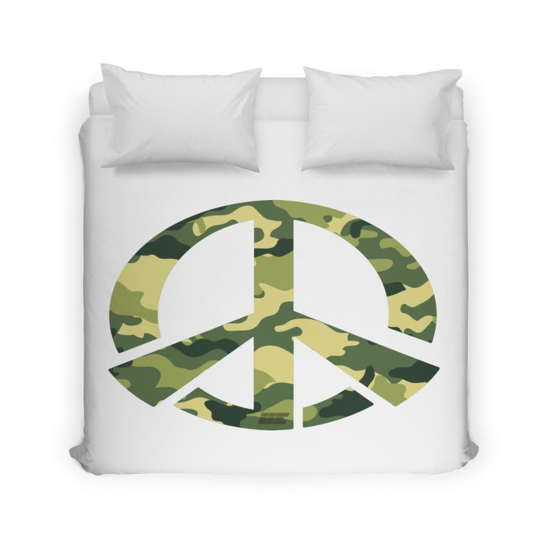 Peace - Camo Edition Home Duvet by uniquego's Artist Shop