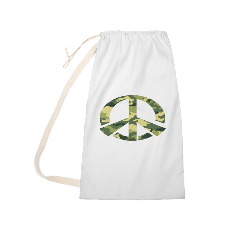 Peace - Camo Edition Accessories Laundry Bag Bag by uniquego's Artist Shop