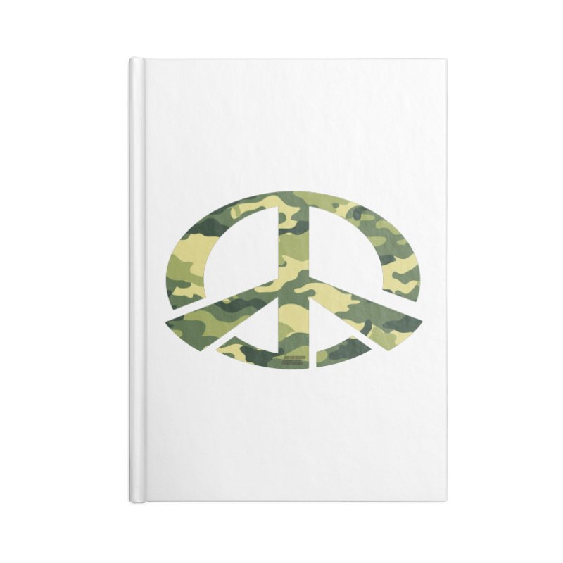 Peace - Camo Edition Accessories Lined Journal Notebook by uniquego's Artist Shop