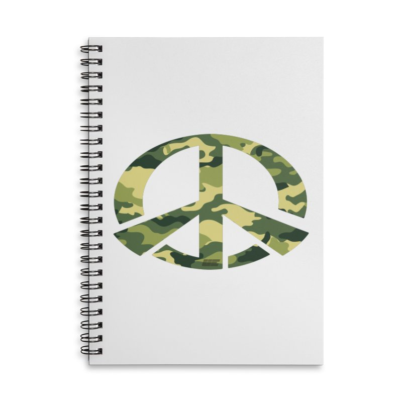 Peace - Camo Edition Accessories Notebook by uniquego's Artist Shop