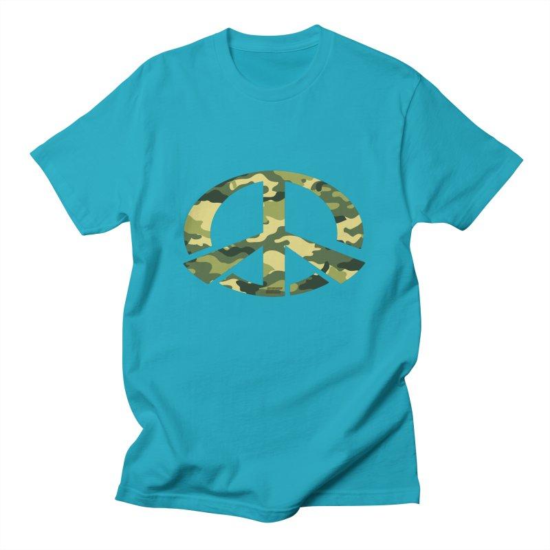 Peace - Camo Edition Men's T-Shirt by uniquego's Artist Shop
