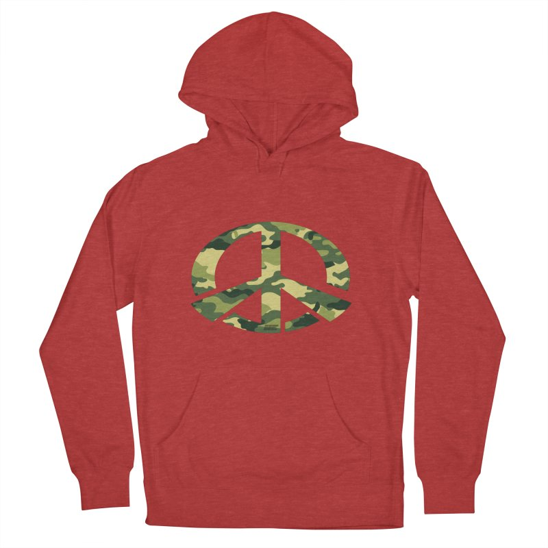 Peace - Camo Edition Women's French Terry Pullover Hoody by uniquego's Artist Shop