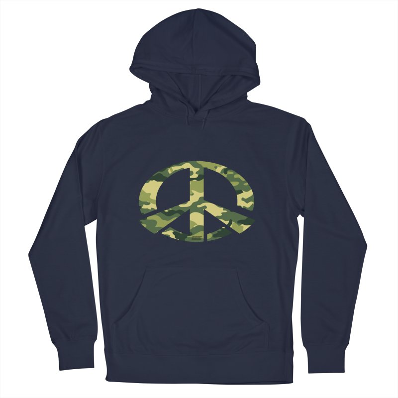 Peace - Camo Edition Men's French Terry Pullover Hoody by uniquego's Artist Shop
