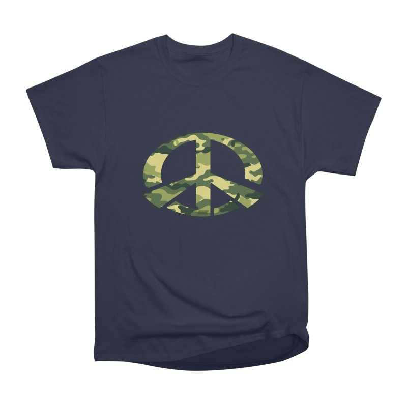 Peace - Camo Edition Women's Heavyweight Unisex T-Shirt by uniquego's Artist Shop
