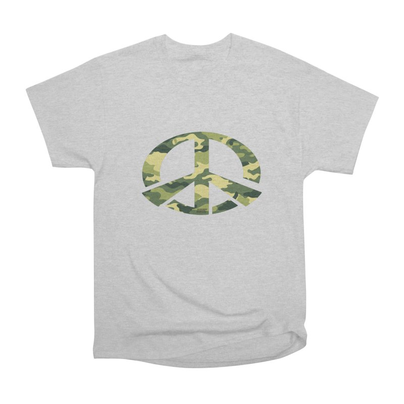 Peace - Camo Edition Men's Heavyweight T-Shirt by uniquego's Artist Shop