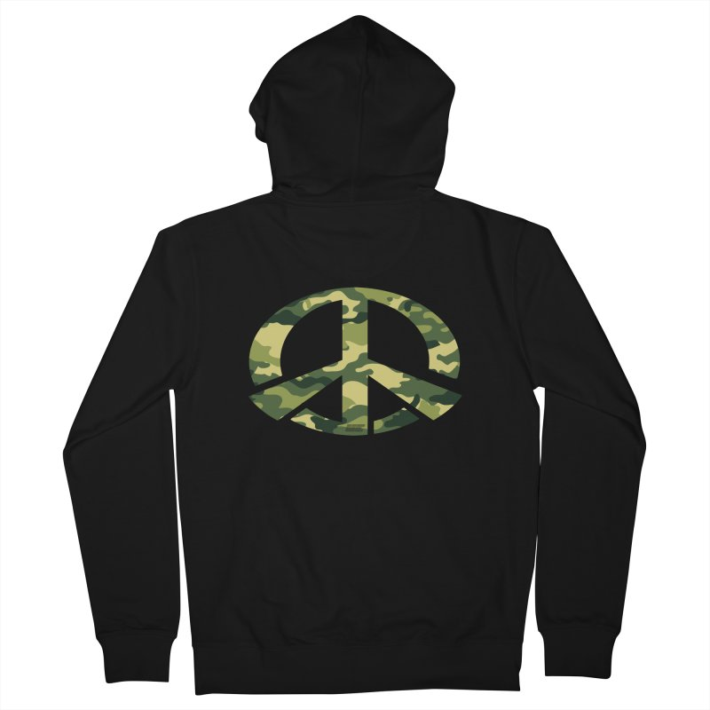 Peace - Camo Edition Women's French Terry Zip-Up Hoody by uniquego's Artist Shop