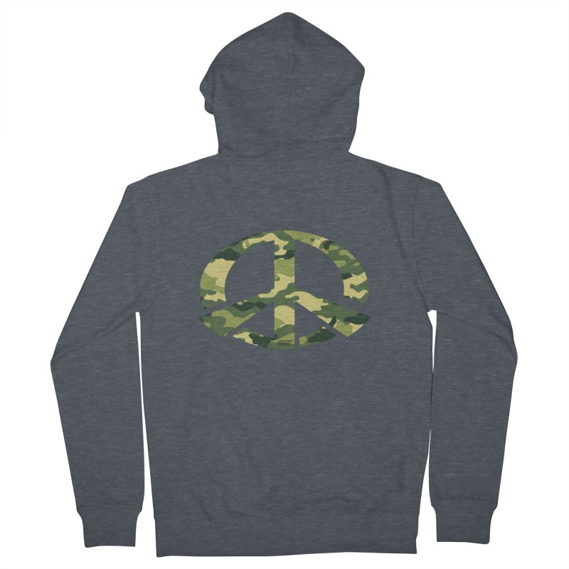 Peace - Camo Edition Men's French Terry Zip-Up Hoody by uniquego's Artist Shop