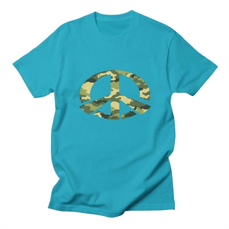 Peace - Camo Edition Men's Regular T-Shirt by uniquego's Artist Shop