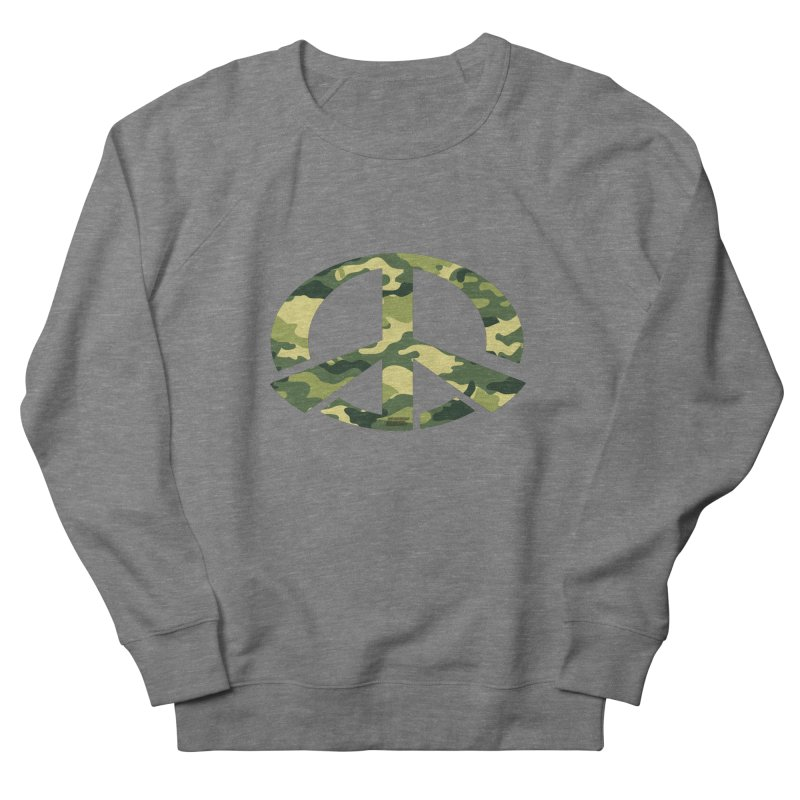 Peace - Camo Edition Men's French Terry Sweatshirt by uniquego's Artist Shop
