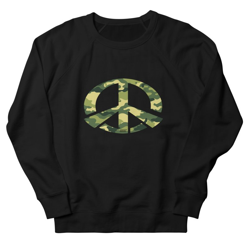 Peace - Camo Edition Men's French Terry Sweatshirt by uniquego's Artist Shop