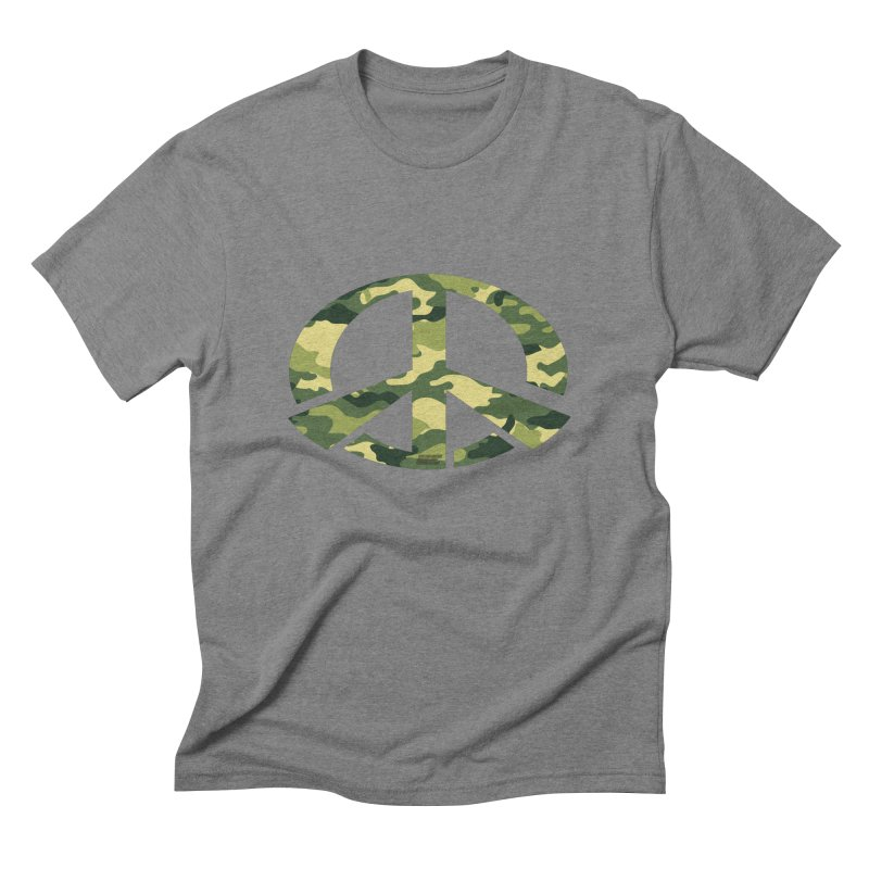 Peace - Camo Edition Men's Triblend T-Shirt by uniquego's Artist Shop