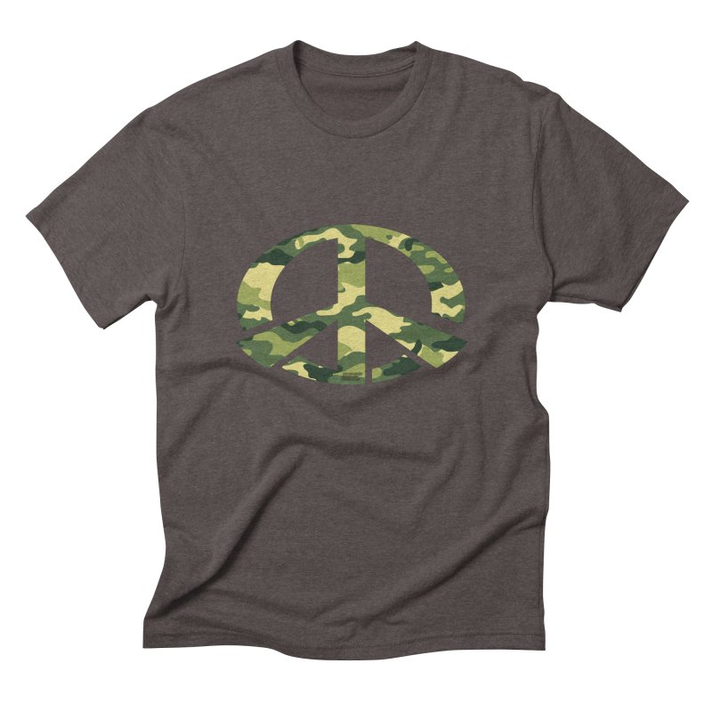 Peace - Camo Edition Men's Triblend T-Shirt by uniquego's Artist Shop