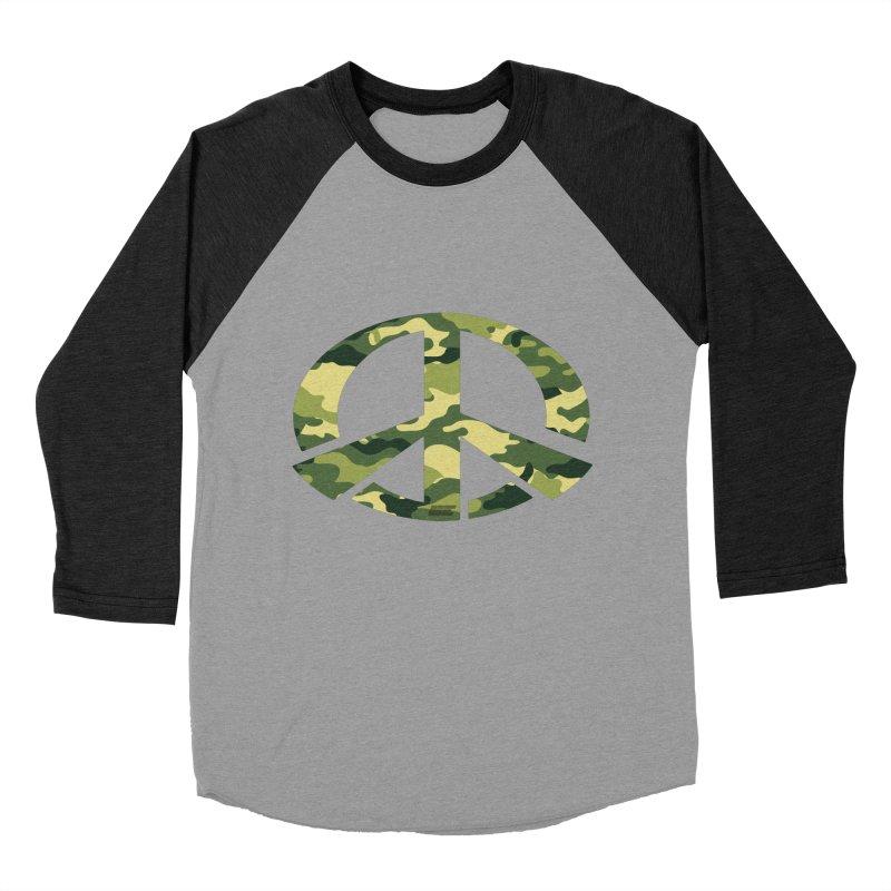 Peace - Camo Edition Men's Baseball Triblend Longsleeve T-Shirt by uniquego's Artist Shop