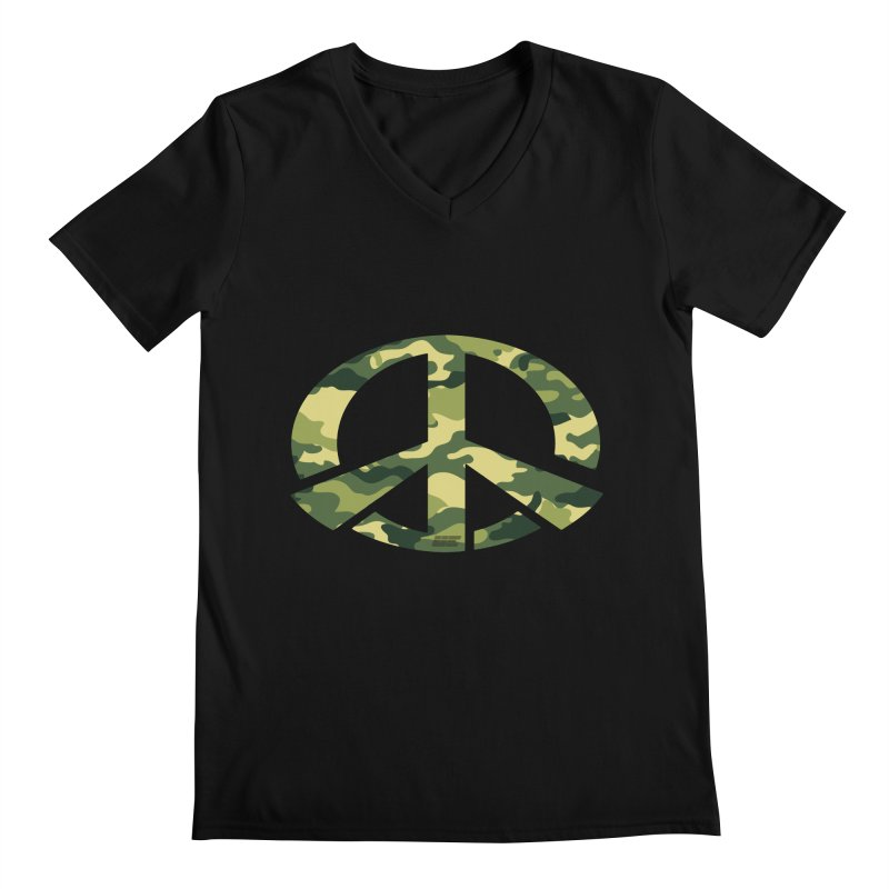 Peace - Camo Edition Men's V-Neck by uniquego's Artist Shop