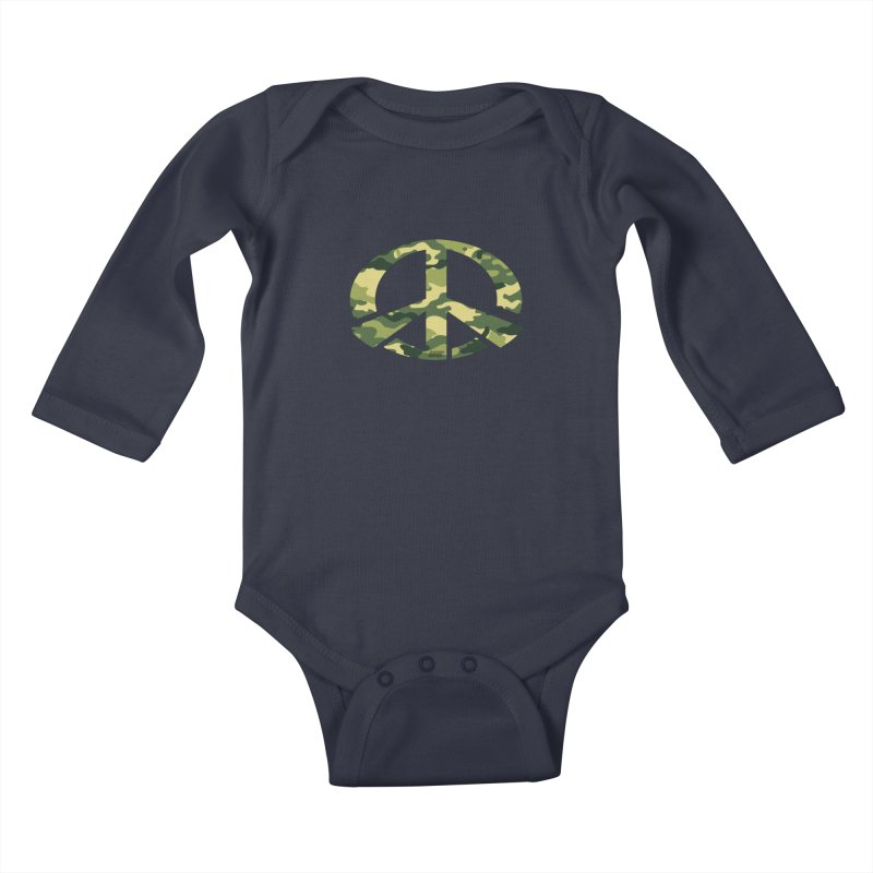Peace - Camo Edition Kids Baby Longsleeve Bodysuit by uniquego's Artist Shop