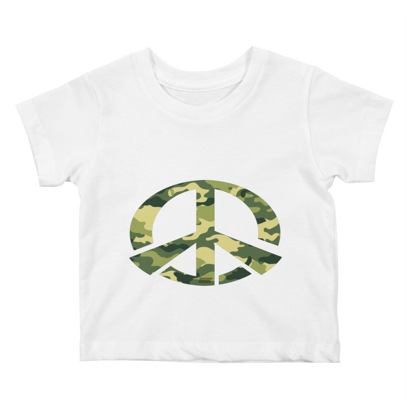 Peace - Camo Edition Kids Baby T-Shirt by uniquego's Artist Shop