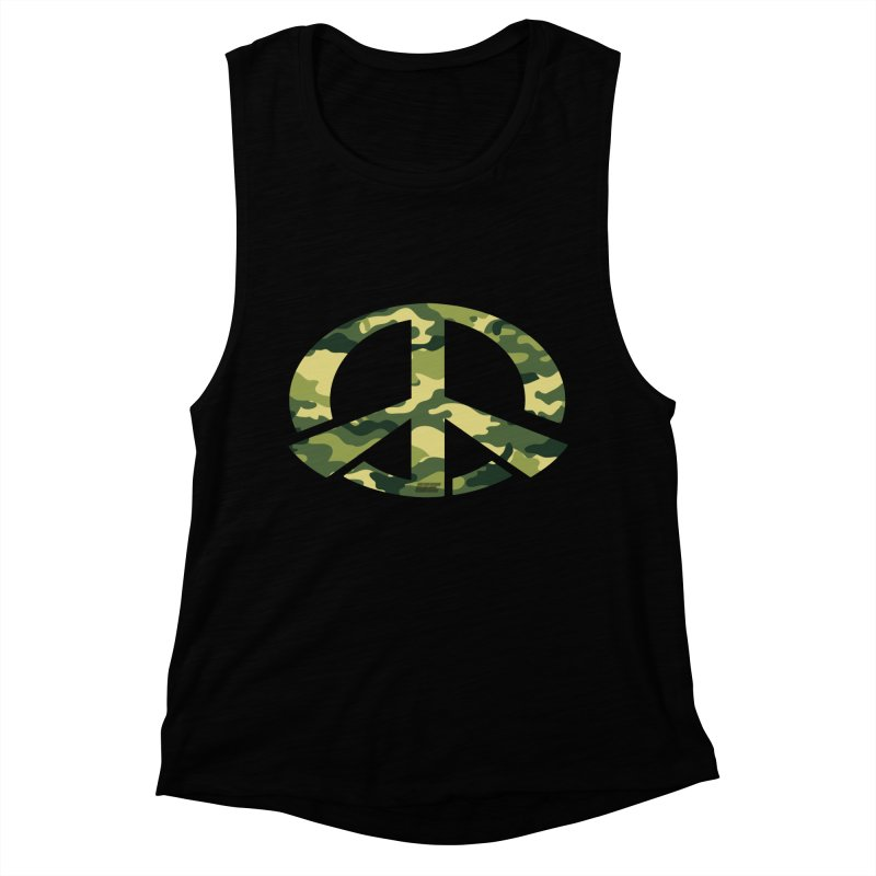 Peace - Camo Edition Women's Muscle Tank by uniquego's Artist Shop