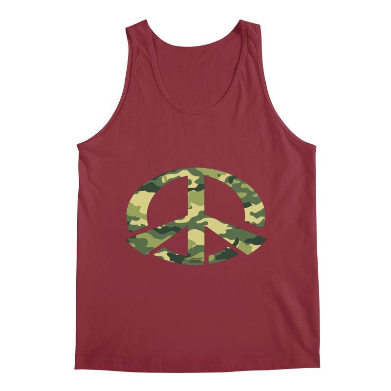 Peace - Camo Edition Men's Regular Tank by uniquego's Artist Shop