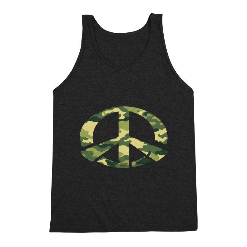 Peace - Camo Edition Men's Triblend Tank by uniquego's Artist Shop