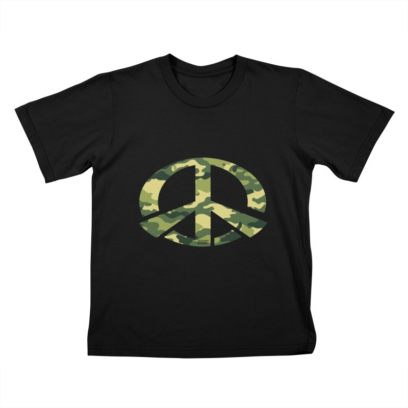 Peace - Camo Edition Kids T-Shirt by uniquego's Artist Shop