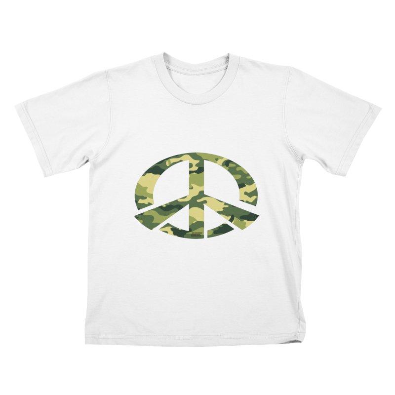 Peace - Camo Edition Kids T-Shirt by uniquego's Artist Shop