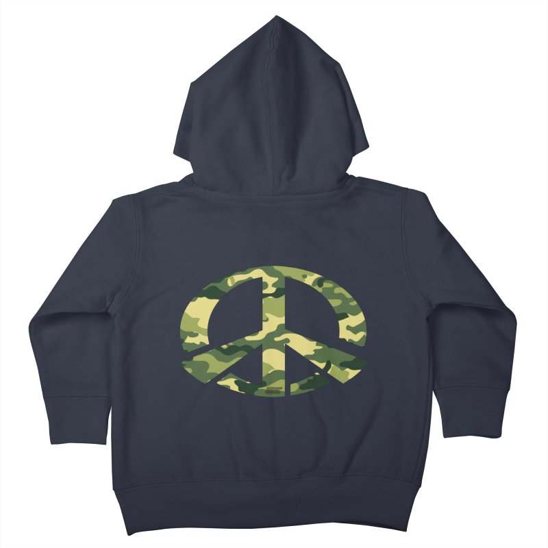 Peace - Camo Edition Kids Toddler Zip-Up Hoody by uniquego's Artist Shop