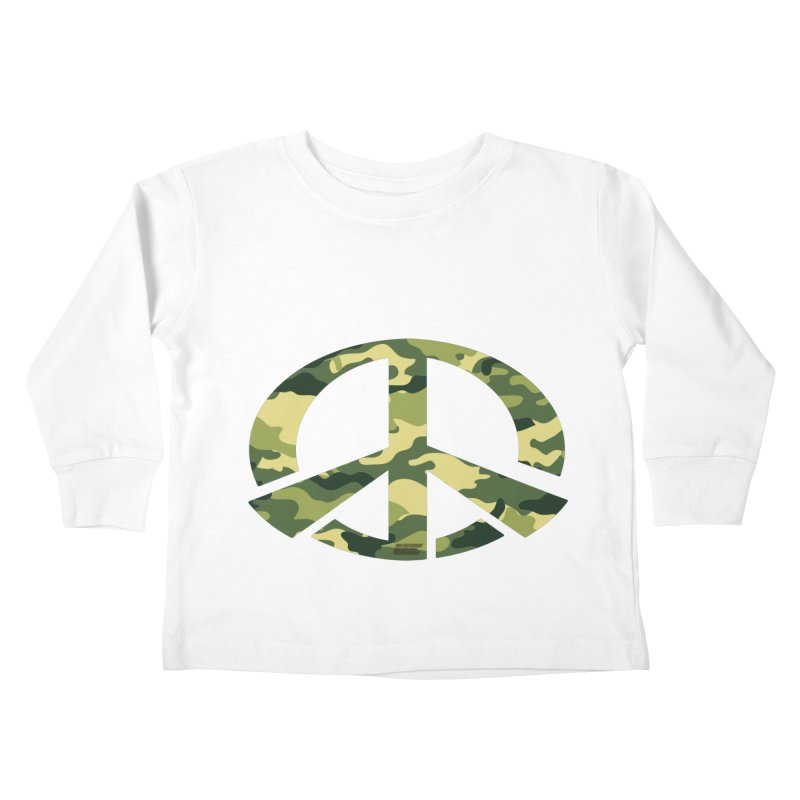 Peace - Camo Edition Kids Toddler Longsleeve T-Shirt by uniquego's Artist Shop
