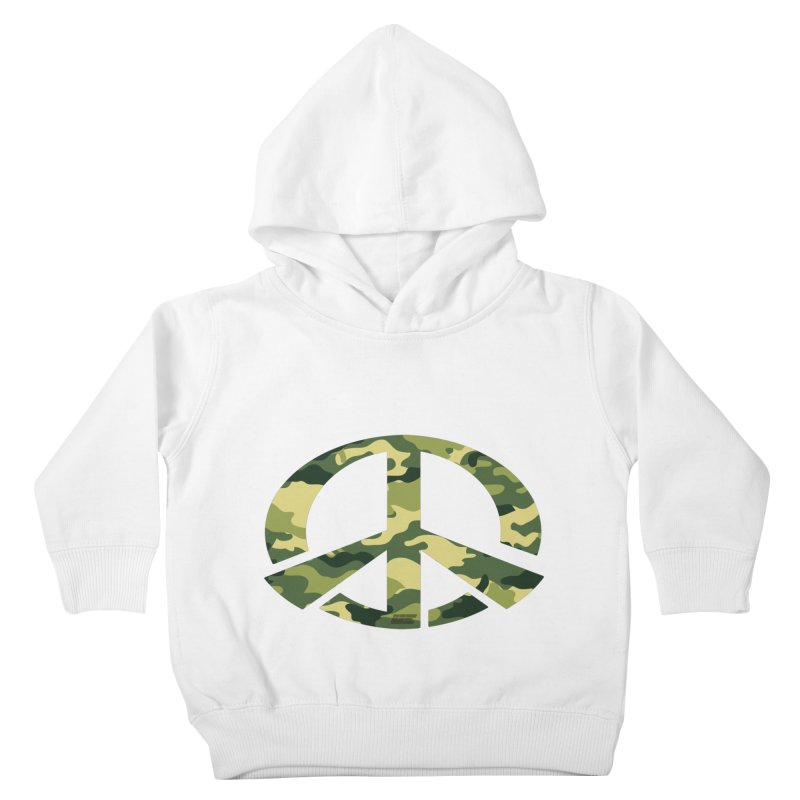 Peace - Camo Edition Kids Toddler Pullover Hoody by uniquego's Artist Shop