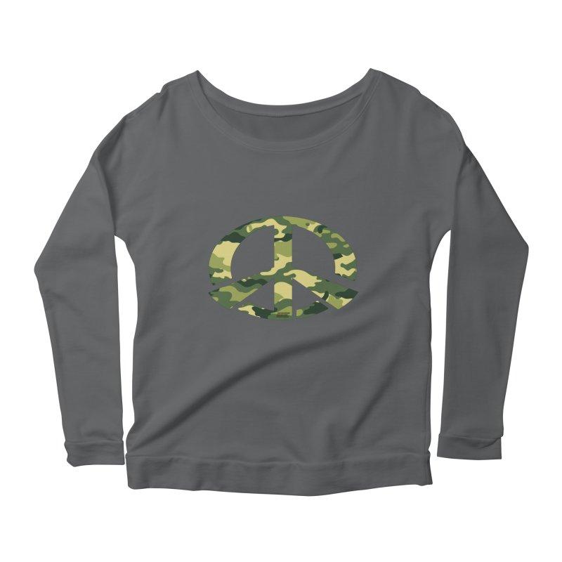 Peace - Camo Edition Women's Longsleeve T-Shirt by uniquego's Artist Shop