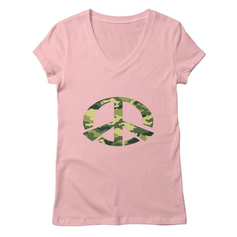 Peace - Camo Edition Women's Regular V-Neck by uniquego's Artist Shop
